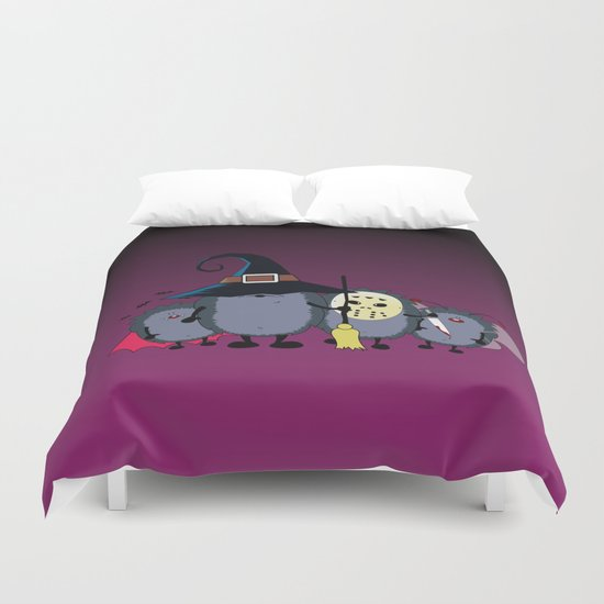 Halloween party crew Duvet Cover