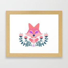 Scandi Fox Framed Art Print