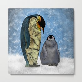 Emperor Penguins Metal Print