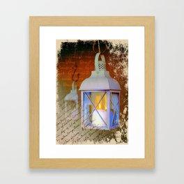 White lanterns Framed Art Print