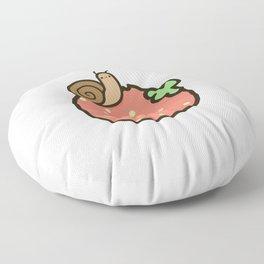 Cute snail on strawberry Floor Pillow