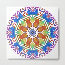 Magic Kaleidoscope Metal Print