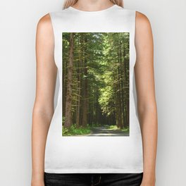 On A Road To The Rainforest Biker Tank