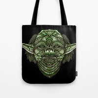jedi Tote Bags featuring Aztec Jedi master Yoda iPhone 4 4s 5 5c 6, pillow case, mugs and tshirt by Greenlight8