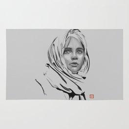 Jyn Erso: sketch-painting Rug