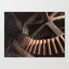 Grist Mill Gears Canvas Print