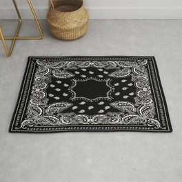 Bandana Black & White Rug