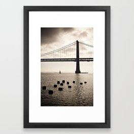 San Francisco, Bay Bridge Framed Art Print