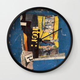 fundamental blue Wall Clock