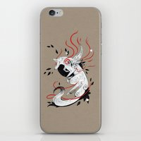 okami iPhone & iPod Skins featuring OKAMI RIBBONS by Rubis Firenos