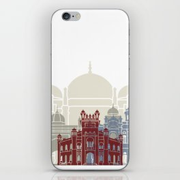 Dhaka skyline poster iPhone Skin