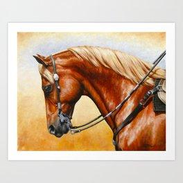 Western Sorrel Quarter Horse Art Print