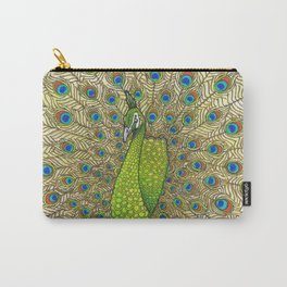 Peacock Tail Feathers Carry-All Pouch
