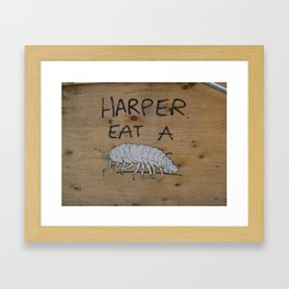 Harper Eat A Bug Framed Art Print