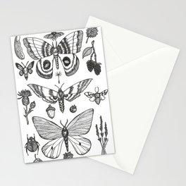Natural History (Black) Stationery Cards