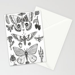 Natural History (Black) Stationery Cards