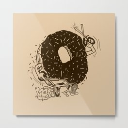 Donut Run with Scissors Metal Print