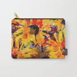 Golden Sunflower Garden Carry-All Pouch