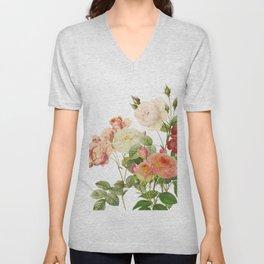 Victorian Roses Unisex V-Neck