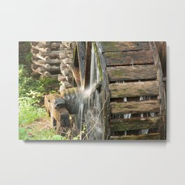 Wooden Grist Mills Water Wheel Metal Print