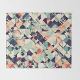 Jumble of Colors And Texture Throw Blanket