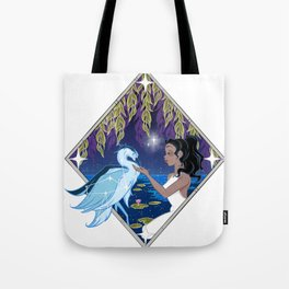 Tiana and Crane constellation Tote Bag