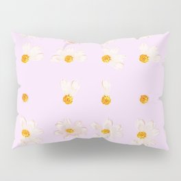 Baby Pink Daisies | Shabby Chic Golden Flower Pattern Pillow Sham