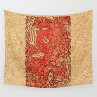 wood Wall Tapestries featuring - wood - by Magdalla Del Fresto