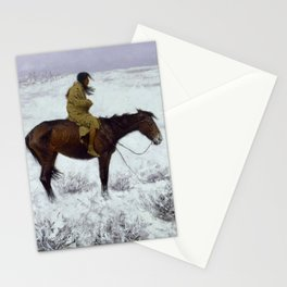 """Frederic Remington Western Art """"The Herd Boy"""" Stationery Cards"""