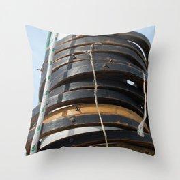 Mast hoops on Sailing Schooner Throw Pillow