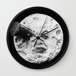 A Trip to the Moon 1902 - Artwork for Wall Art, Prints, Posters, Tshirts, Men Women Kids Wall Clock