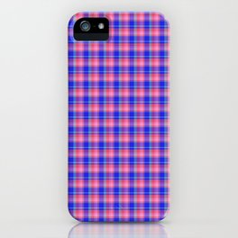 Pink Blue Scottish Tartan iPhone Case