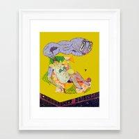 hentai Framed Art Prints featuring remedy hentai by Kira Leigh