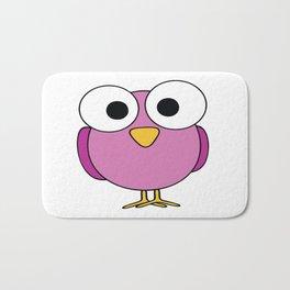 GOOGLEY EYED PINK BIRD Abstract Art Bath Mat