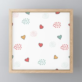 Cute Hearts Background. Seamless Pattern with hearts Framed Mini Art Print