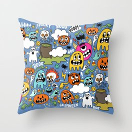 Booo! Throw Pillow
