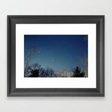 night/stars Framed Art Print