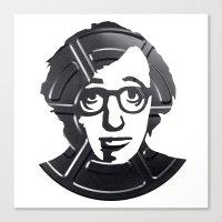 woody allen Canvas Prints featuring Woody Allen by Alejandro de Antonio Fernández