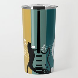 Retro Bass Guitar Travel Mug