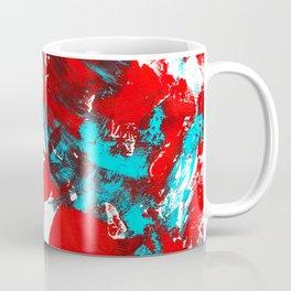 Teal and Red Abstract Coffee Mug
