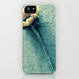 Sunflower on Denim Blue iPhone Case