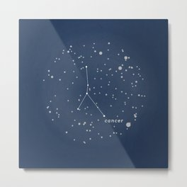 CANCER - Astronomy Astrology Constellation Metal Print