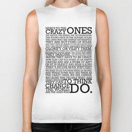 Here's To The Crazy Ones - Steve Jobs Biker Tank