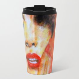 Title: Pastel Portrait - Orange Passion Travel Mug