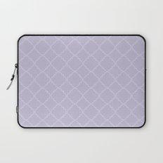 Quatrefoil - Lavender Laptop Sleeve