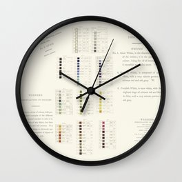 Werner's nomenclature of colour Wall Clock