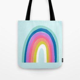 Rainbows on Light Blue Tote Bag