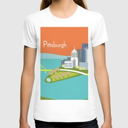 Pittsburgh, Pennsylvania - Skyline Illustration by Loose Petals T-shirt