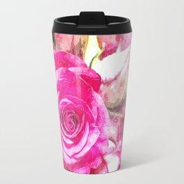 Bunch of Pink roses (watercolour) Travel Mug