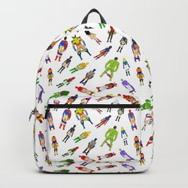 Superhero Butts with Villians - Light Pattern Backpack